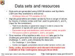 data sets and resources