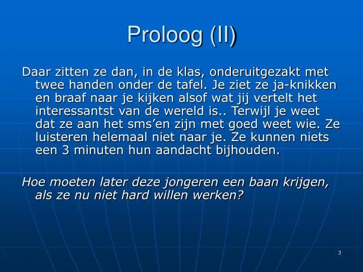 Proloog (II)