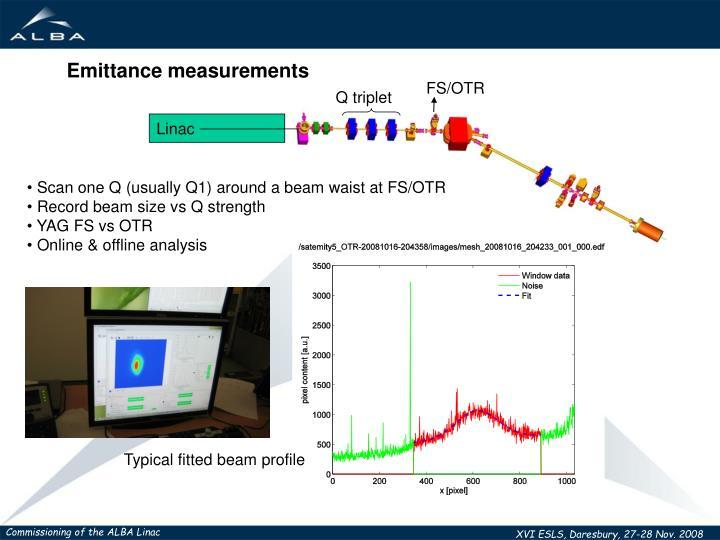 Emittance measurements
