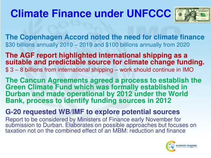 Climate Finance under UNFCCC