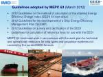 guidelines adopted by mepc 63 march 2012
