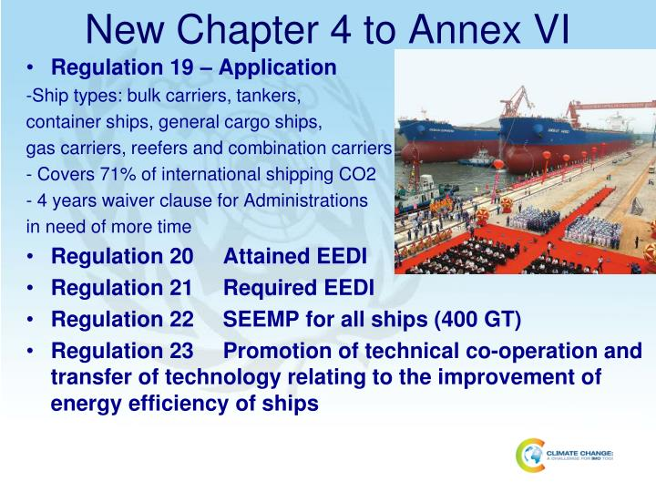 New Chapter 4 to Annex VI
