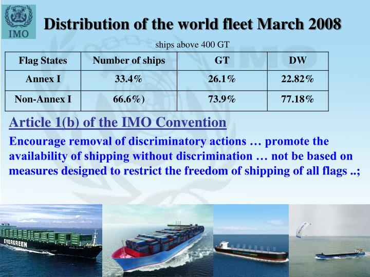 Distribution of the world fleet March 2008