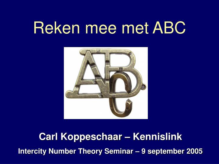 Reken mee met ABC