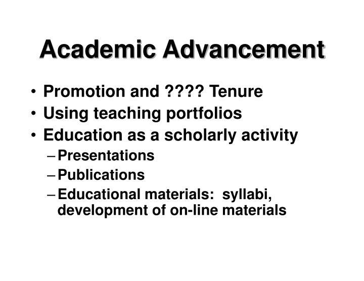 Academic Advancement