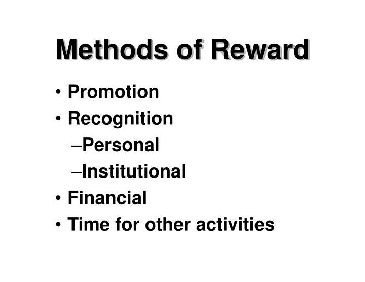 Methods of Reward