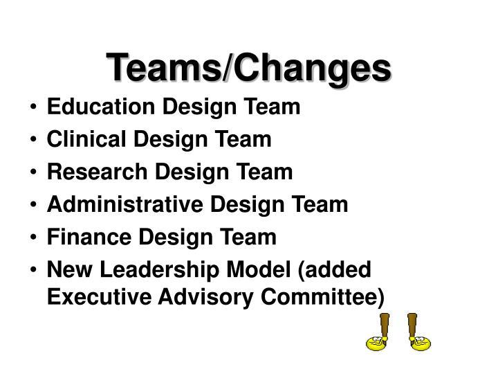 Teams/Changes