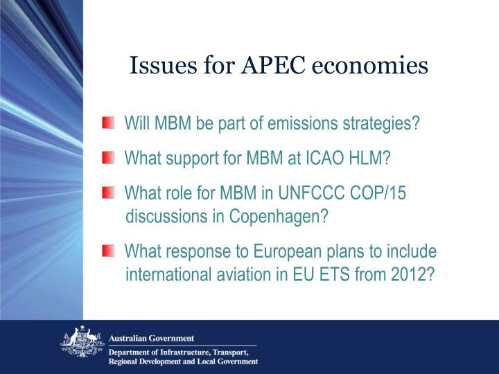 Issues for APEC economies