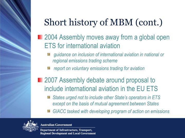 Short history of MBM (cont.)