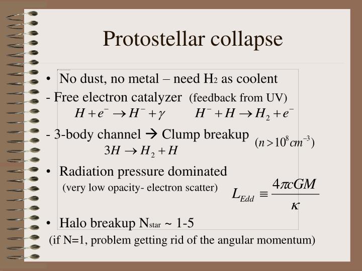 Protostellar collapse