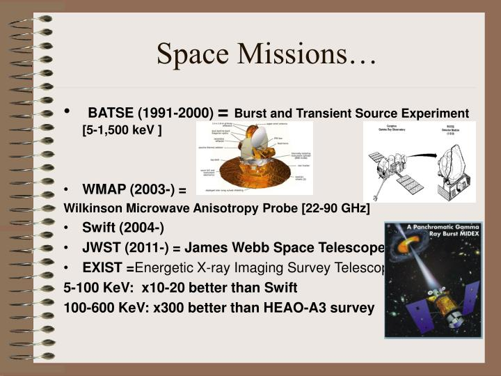 Space Missions…