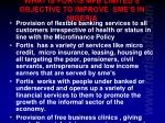 what is fortis mfb limited s objective to improve sme s in nigeria