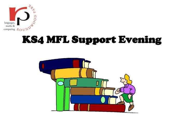ks4 mfl support evening