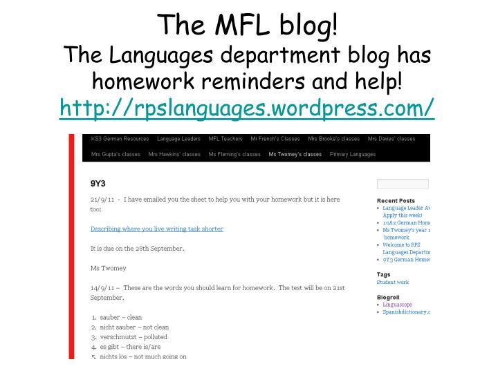 The MFL blog!