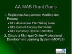 aa mas grant goals