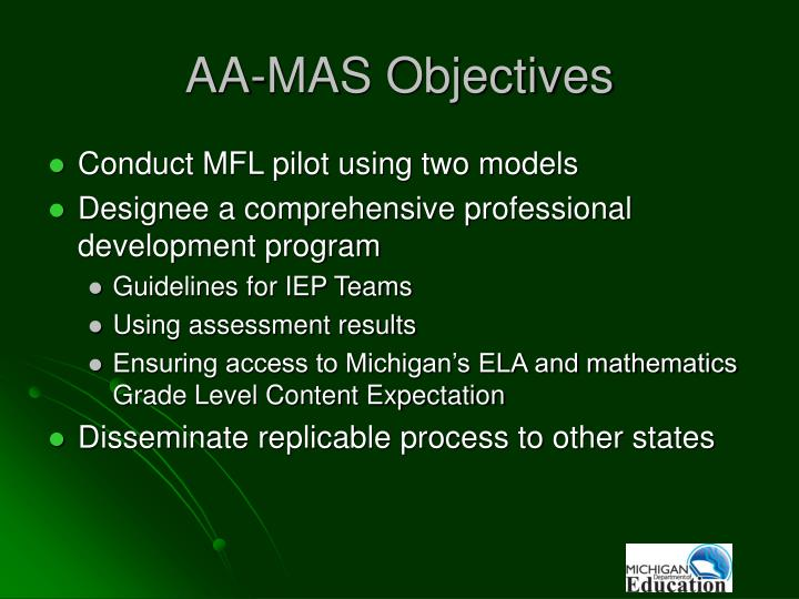 AA-MAS Objectives