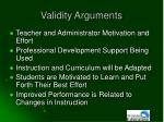 validity arguments