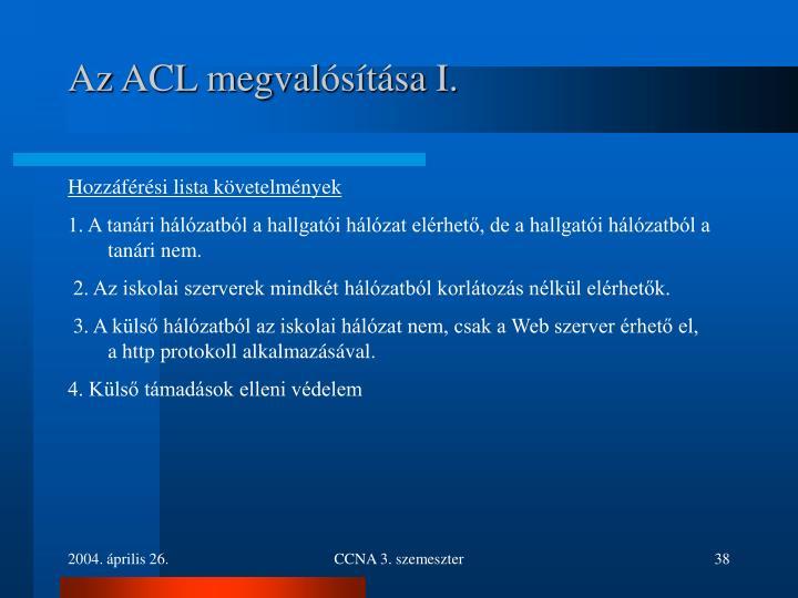 Az ACL megval