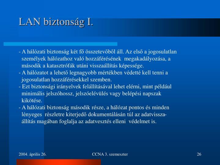 LAN biztonság I.