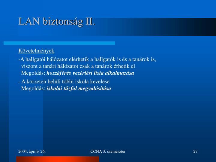 LAN biztonság II.
