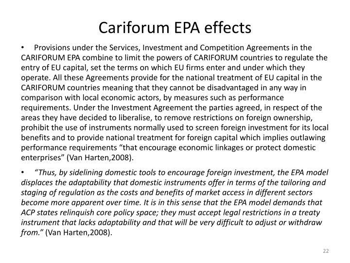 Cariforum EPA effects