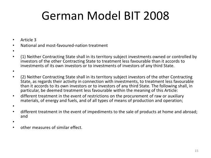 German Model BIT 2008