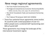 new mega regional agreements