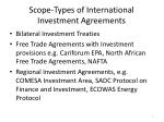 scope types of international investment agreements