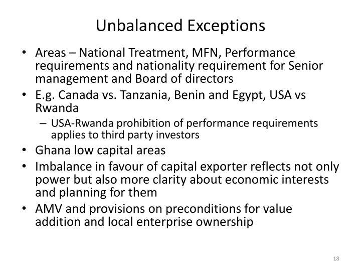 Unbalanced Exceptions