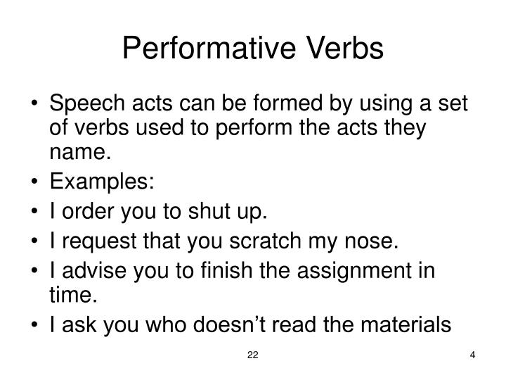 Performative Verbs