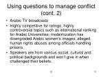 using questions to manage conflict cont 2