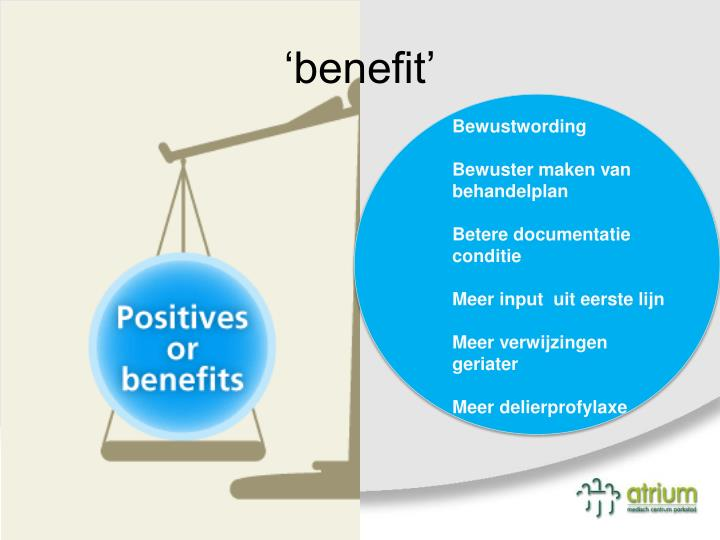 'benefit'