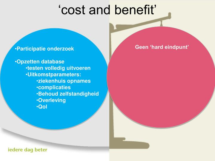 'cost and benefit'