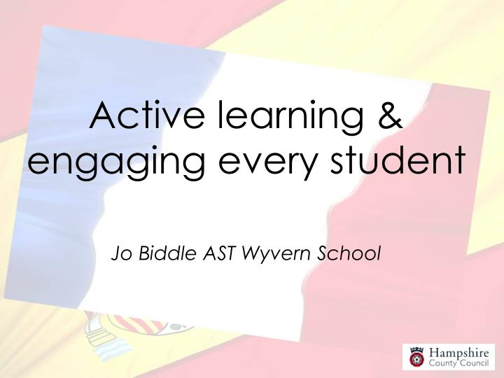 Active learning & engaging every student