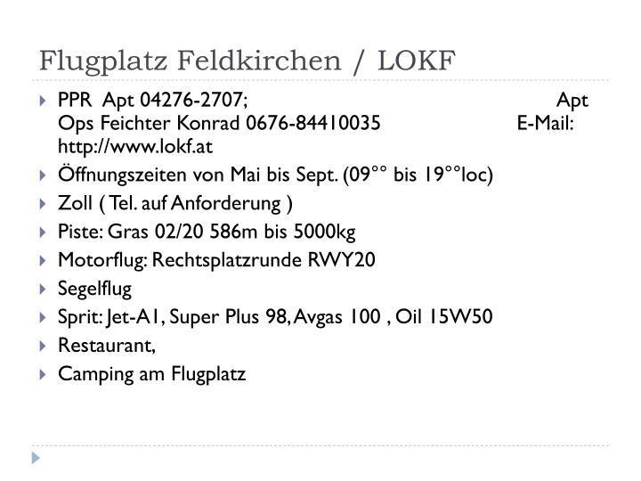 Flugplatz Feldkirchen / LOKF