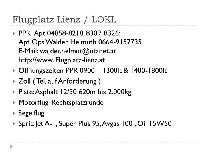 Flugplatz Lienz / LOKL