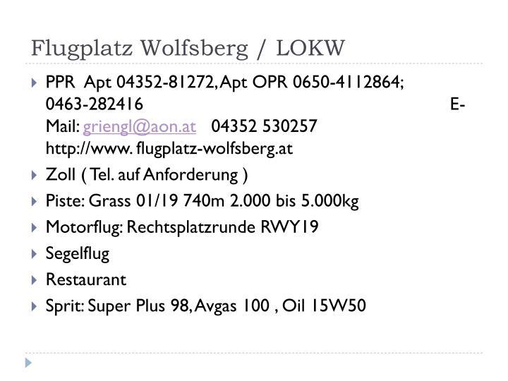 Flugplatz Wolfsberg / LOKW