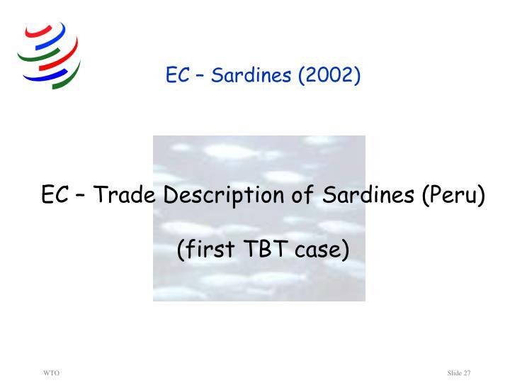 EC – Sardines (2002)