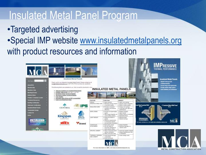 Insulated Metal Panel Program