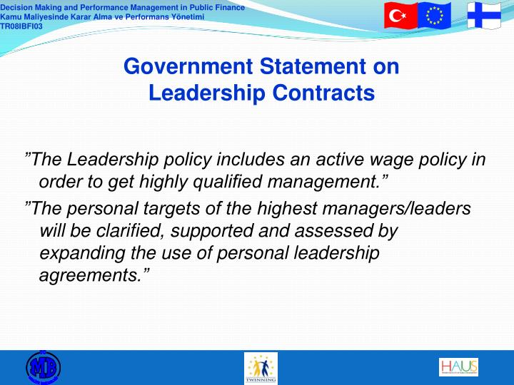 Government Statement on