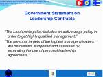 government statement on leadership contracts1