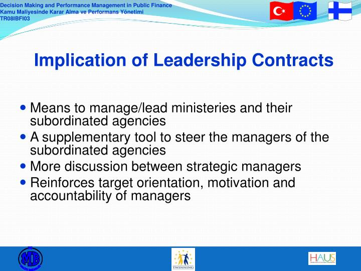 Implication of Leadership Contracts