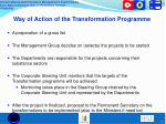 way of action of the transformation programme