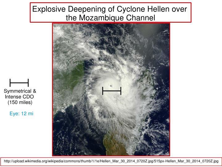 Explosive Deepening of Cyclone Hellen over