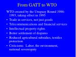 from gatt to wto