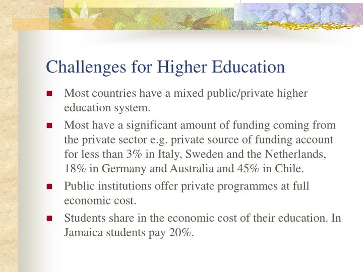 Challenges for Higher Education