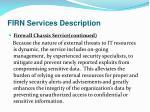 firn services description19