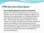 firn services description23