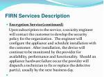 firn services description25