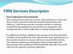 firn services description3